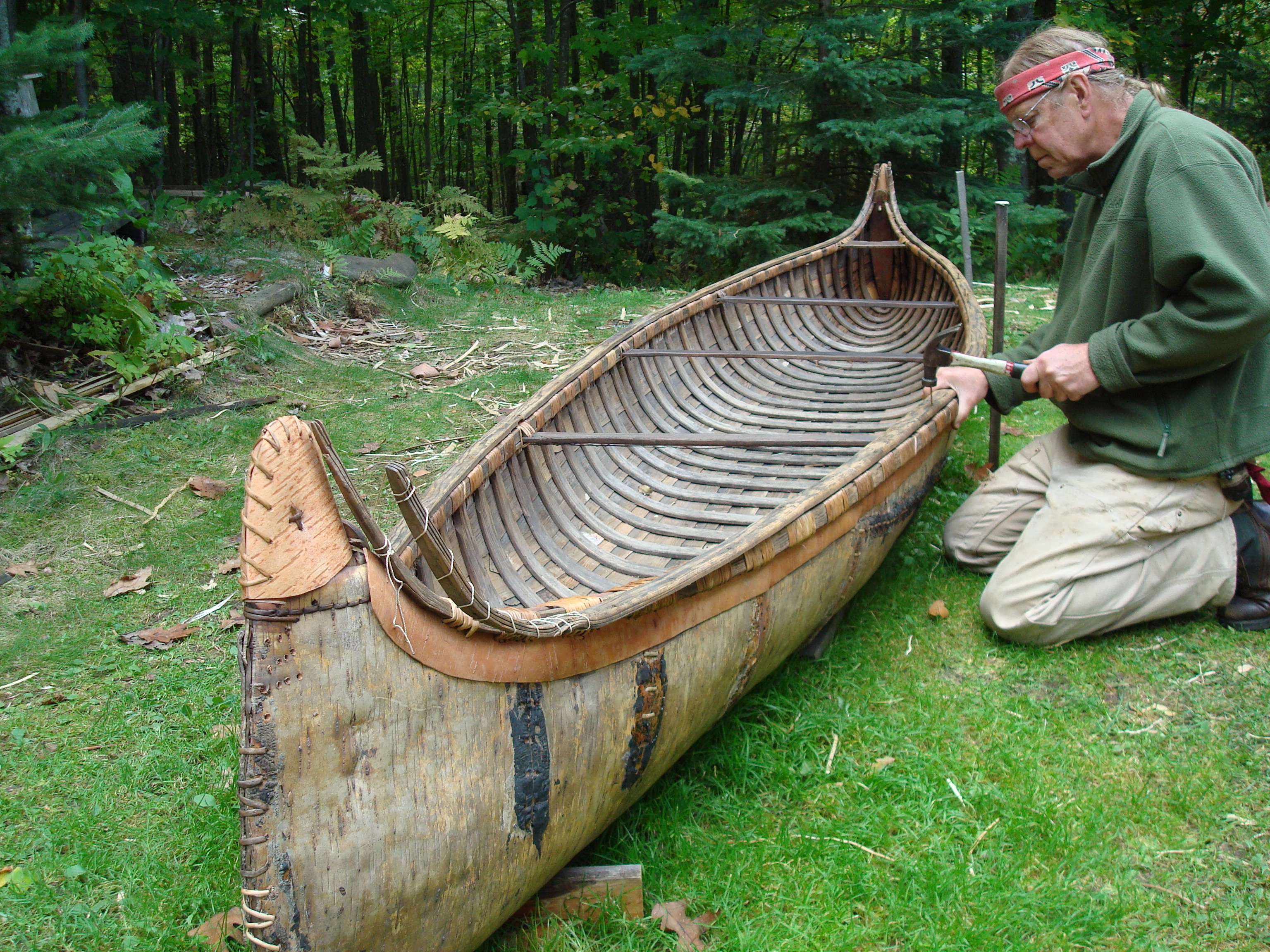 how to build a birch bark canoe step by step